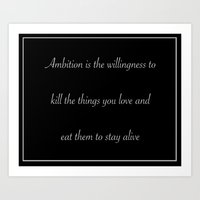30 rock Art Prints featuring Ambition (30 Rock) by nicemarmot