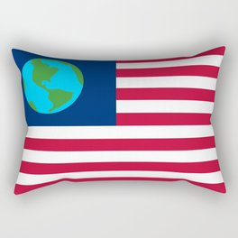 Old Freebie - Earth's Flag Rectangular Pillow