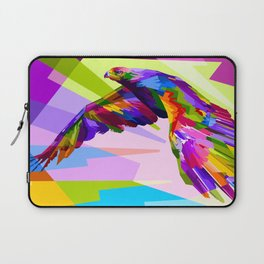 Colorful Eagle Illustration Laptop Sleeve