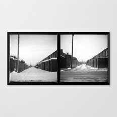 Snow x 2 Canvas Print