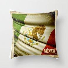 STICKER OF MEXICO flag Throw Pillow