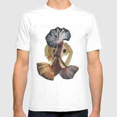 Worms White MEDIUM Mens Fitted Tee