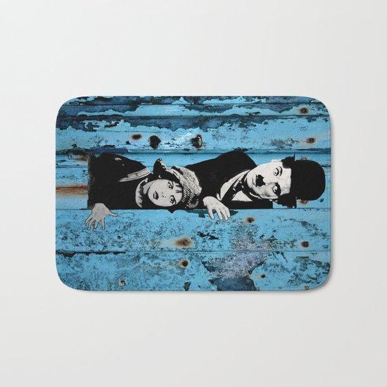 Chaplin and the kid - Urban ART Bath Mat