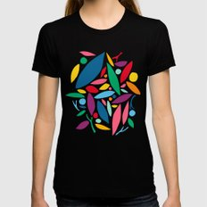 Found Objects LARGE Womens Fitted Tee Black