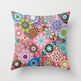 Moroccan bazaar | pink Throw Pillow