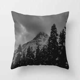 North Cascade Winter Blizzard Throw Pillow