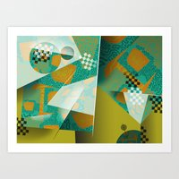 planes Art Prints featuring Planes by DARWIN STEAD