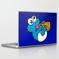 cookie monster Laptop & iPad Skins featuring Cookie Juice by BinaryGod.com