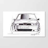 gta Canvas Prints featuring Alfa Romeo 155 GTA by Michele Leonello