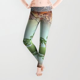 MADRONA SKY AND SKETCH NOTES ABSTRACT Leggings