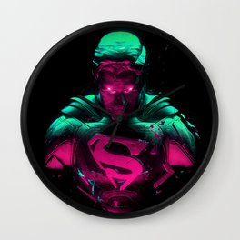 Man Of Steel 4 Wall Clock