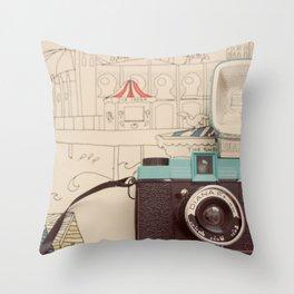 Snapshots Throw Pillow