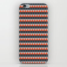 Orange Gray Pattern iPhone & iPod Skin