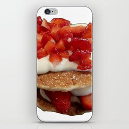 pancakes_strawberries_and_whip_cream iPhone Skin