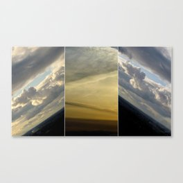 2 sunsets in one Canvas Print
