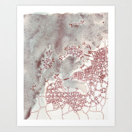 Coffee Stain Civilization (Cityspace #97) Art Print