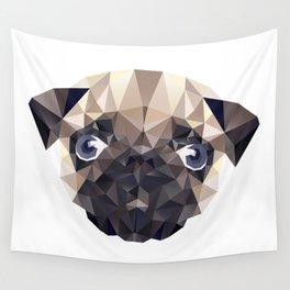 Pug Diamonds Wall Tapestry