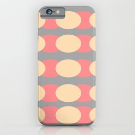 Modern Retro Style Spot Print iPhone Case