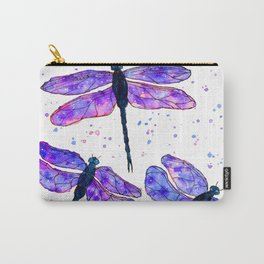 Galaxy watercolor dragonfly Carry-All Pouch