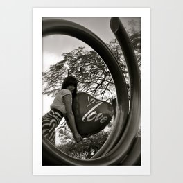 Circled love Art Print