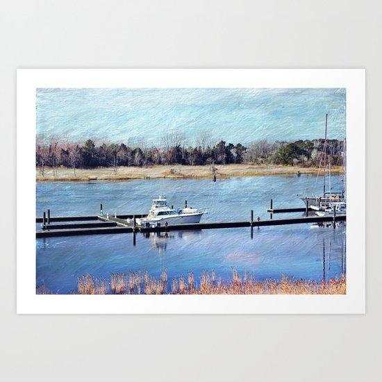 Charleston Boat Art Print