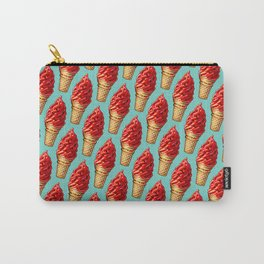 Ice Cream Pattern - Cherry Dip Carry-All Pouch