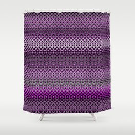 Fragility Plum Shower Curtain