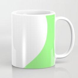 Heart (White & Light Green) Coffee Mug