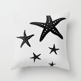 Starfishes Throw Pillow