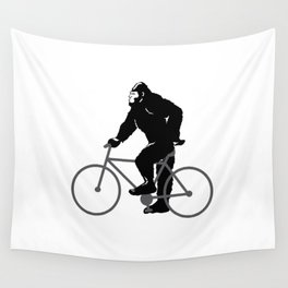Bigfoot  riding bicycle Wall Tapestry