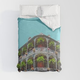 Hanging Baskets of Royal Street, New Orleans Comforters