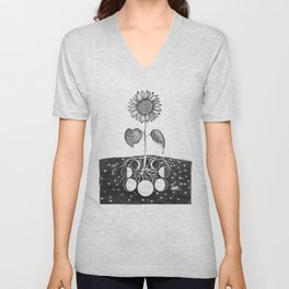 Prāṇa (Life Force) Unisex V-Neck