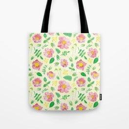 California Rose Pattern Tote Bag