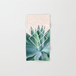 Agave geometrics - peach Hand & Bath Towel