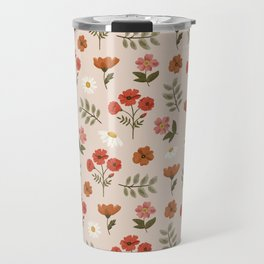 Among the Wildflowers Pattern Travel Mug