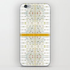 Acknowledge Your Ambiguities. iPhone & iPod Skin