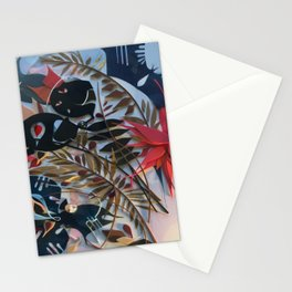 The Centerpiece- Abstract Botanical Collage Stationery Cards