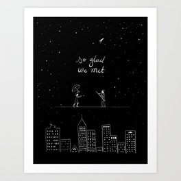 We met Art Print