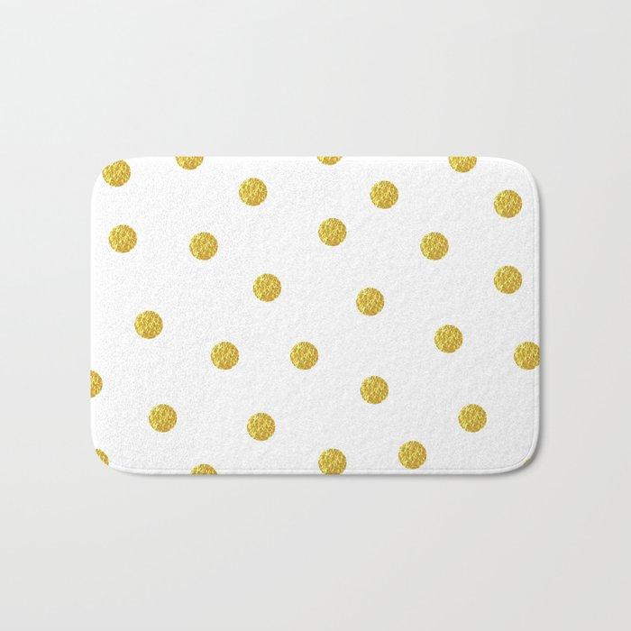 Golden Dots Bath Mat