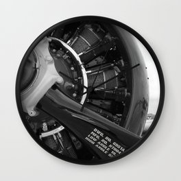 Props and Pistons  Wall Clock