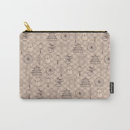 Retro asian pattern Carry-All Pouch