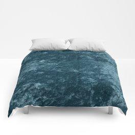 Peacock teal velvet Comforters