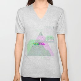 GLITCH NATURE #80: Water, ass, ground. Unisex V-Neck