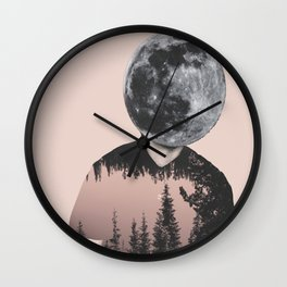 Moonhead (K) Wall Clock