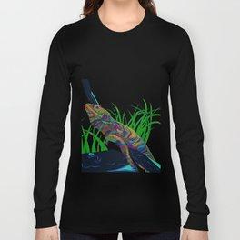 Colorful Lizard Long Sleeve T-shirt