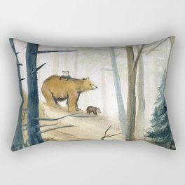 Bear Family 2 Rectangular Pillow