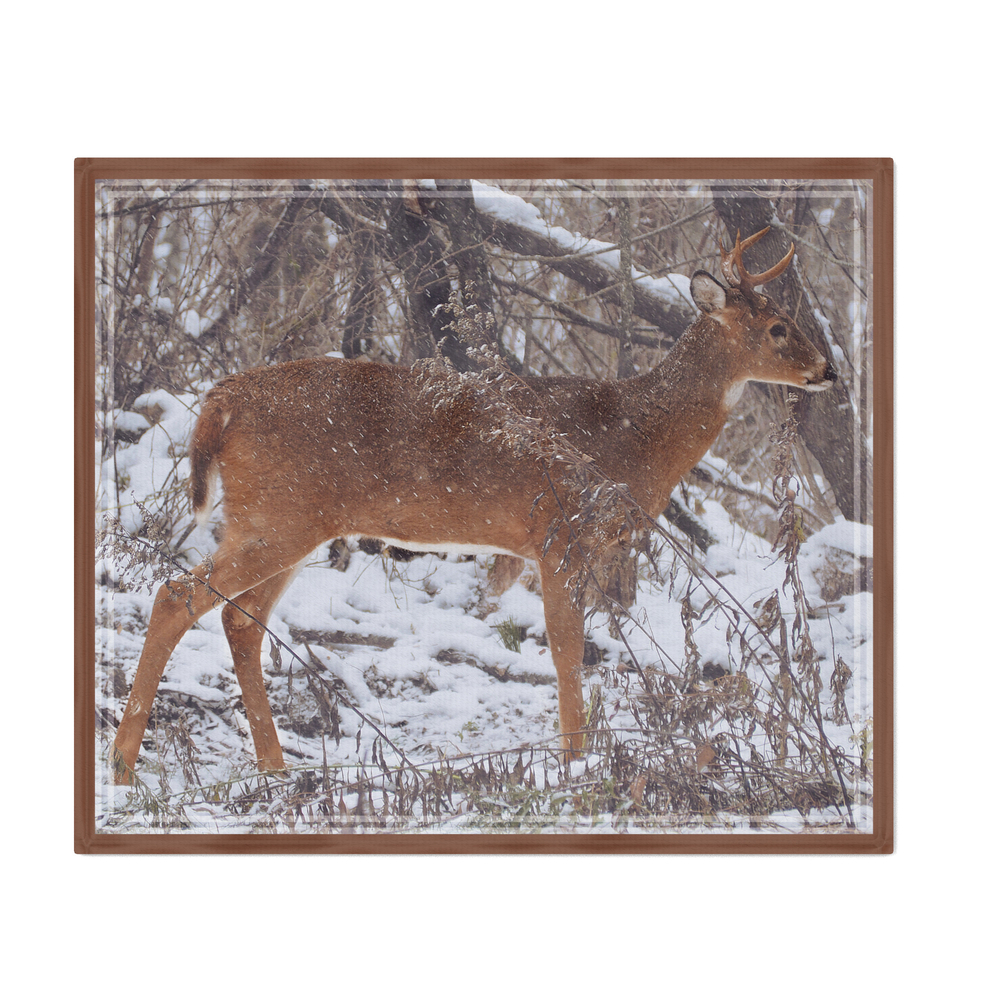 Deer_in_Snow_Throw_Blanket_by_jbartl