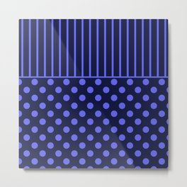 blue, combo pattern Metal Print