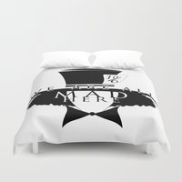 mad hatter Duvet Covers featuring Mad Hatter by Rose's Creation