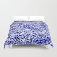 navy Duvet Covers featuring Navy by Samantha Jeffrey